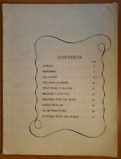 VINTAGE 1925 COLLECTION OF PIANO SHEET MUSIC BY IRVING BERLIN - NO COVER