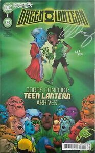 GREEN LANTERN #1 (2021) SIGNED IN SILVER BY BERNARD CHANGE W/COA.