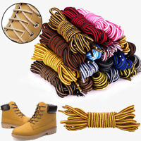 Round 4mm Rope Stripe Shoelace Sneaker Hiking Walking Boot Shoe Laces- 4 LENGTHS