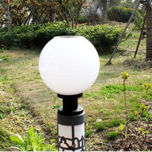 LED Solar Powered LED Pillar Light Fence Lamp Round Wall Post Lamp Decoration