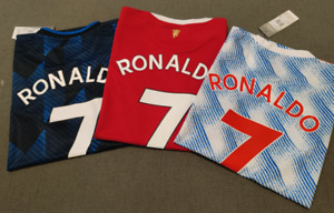 CRISTIANO RONALDO 7# United Jersey 2021-2022 With TAGS PATCH Manchester United