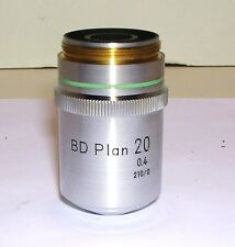 NIKON BD PLAN 20X BRIGHTFIELD DARKFIELD OBJECTIVE LENS
