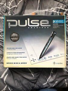 New Livescribe Pulse USB 2GB SmartPen Recordable Pen! Open Box Notepads Dyslexia