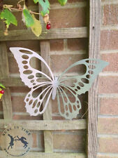Steel LARGE BUTTERFLY SILHOUETTE with bent wings for a real look