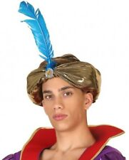 Turban Doré Arabe Accessoire Déguisement Homme Costume Sultan Aladdin Aladin