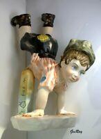 Antique Italian Porcelain  Boy Figurine Sculpture Capodimonte ? Capo-di-Monte