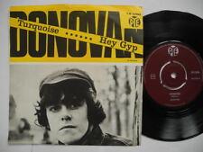 "DONOVAN Turquoise / Hey Gyp 45 7"" single 1965 Sweden"