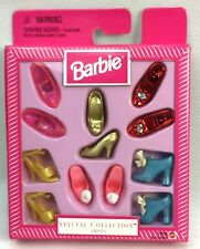 Barbie Special Collection Shoes Metallic Red Glitter Pink Turquoise Heels Roses