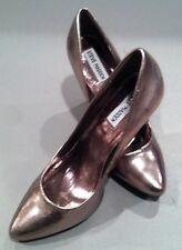 Steve Madden Leather High Heel Platform Pumps Bronze 6