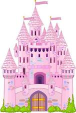 Sticker enfant Chateau princesse hauteur 30cm