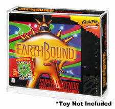 Super Nintendo SNES Earthbound/Mario Paint Video Game Box ACRYLIC DISPLAY CASE