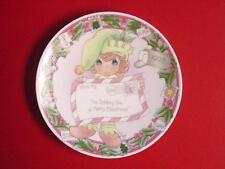 Lot of 5 cute 1998 Precious Moments Christmas Mini Plates w/stands