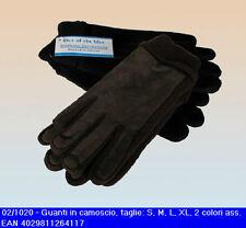 Guanti in pelle scamosciata disponibili in due colorazioni e in quattro taglie