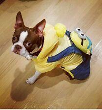 Cartoon Minions Warm Winter Dog Costume / Coat Hoodie Jacket Halloween