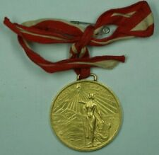 1921 Peru Gold Medal 100th Anniv. of Independence from Spain W/ Ribbon 43.55g AU