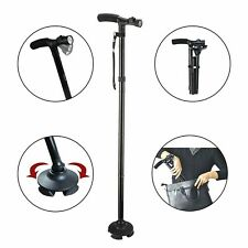 LED Mobility Walking Stick with light Folding & Height Adjustable Heavy Duty CHN