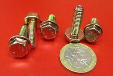 Flanged Bolt, Zinc Yellow Steel 8.8 Metric, PT, M6 x 1.0 x 20 mm Length, 100 Pc