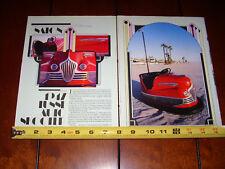 1947 LUSSE AUTO SKOOTER BUMPER CAR - ORIGINAL 1987 ARTICLE