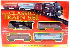 Classic Train Set Toy Train Set Track Battery Operated Carriages Light & Sound