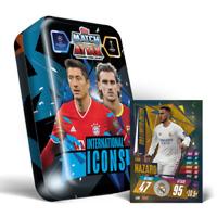 2020 2021 Match Attax UEFA Sealed Mega Tin 50 Cards 1 Gold - International Icons