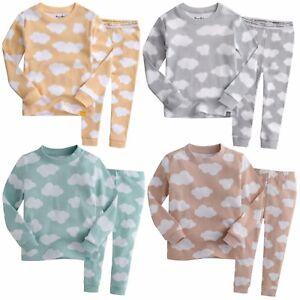 "Vaenait Baby Toddler Kids Boys Girls Clothes Pajama Set ""Long Cloud"" 12M-12Y"