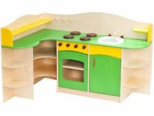 Large Girls Kids Wooden Play Kitchen Children's Role Play Pretend Corner Set Toy