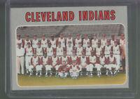 1970 TOPPS #637 CLEVELAND INDIANS TC TEAM CARD BK$12.00 C