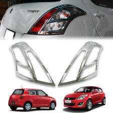 CHROME TAIL LIGHT LAMP COVER TRIM REAR LAMP FIT FOR SUZUKI SWIFT 2012-2018