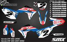 2019 Honda CRF450 CRF 250 custom motocross graphics kit stickers 2018 2017 2020