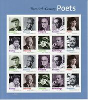 4654-63. 20th Century Poets Sheet of 20 Forever Stamps Mint NH - Stuart Katz