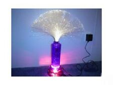 """NEW ELECTRIC PURPLE FIBER OPTIC LIGHT 25"""" HIGH NEW IN BOX DELUXE LAMP"""