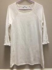 Style & co. Women's Sweater Dress Shift 3/4 Sleeve White Lace Long Shift Dress