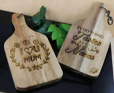 PERSONALISED ENGRAVED SMALL CHOPPING SERVING BOARD MOTHERS DAY NANNA'S CHRISTMAS