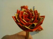 Duct Tape Flower Pens Set of 3  Red and Gold 258393