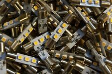 Lot of 50 New WARM WHITE LED Fuse Lamps For Amplifiers Pre Tuners Meters Repair
