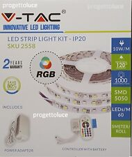 V-TAC KIT STRISCIA LED MULTICOLORE RGB 300 LED 5050 + CONTROLLER + ALIMENTATORE