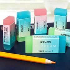 Creative Durable Flexible Cube Translucent Pencil Rubber Erasers For School Kids