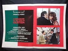 FOTOBUSTA CINEMA - CORRUZIONE AL PALAZZO DI GIUSTIZIA - FRANCO NERO - 1975 - 12