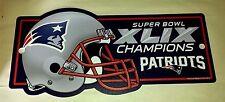 Super Bowl XLIX Champions New England Patriots Plastic Sign by Wincraft - NEW!