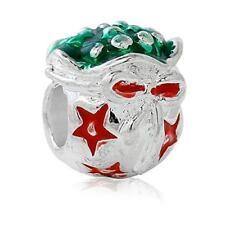Christmas Flower Ball Charm Bead for European Snake Chain Charm Bracelet