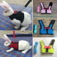 Mesh Soft Harness w/ Leash Small Animal M Vest Lead for Hamster Rabbit Bunny