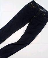 J Crew Matchstick Womens Skinny Jeans 25 R Dark Wash Denim Style A2640