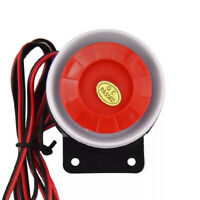 DC 12V 120db Indoor Warning Signal Horn Home Security Strobe Siren Alarm System