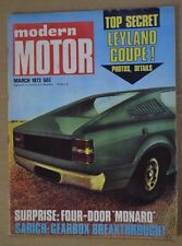 Modern Motor Mar 1973 Mercedes Benz 280E Toyota Hi-Ace Camper Leyland Force 7