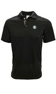 INTER MILAN ADULT PREMIUM BLACK POLO SHIRT SMALL-XXL OFFICIALLY LICENSED