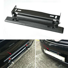Universal Car Carbon Fiber Number Racing Adjustable License Plate Holder Frame