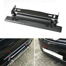 Universal Car Carbon Fiber Number Racing Adjustable License Plate Holder Frame