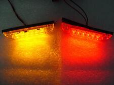 Amber 6 LEDS Dual Mode Marker Stop Turn 3-wire Truck Trailer ATV ORV Light