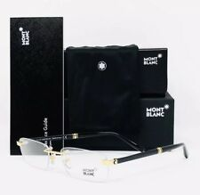 New Mont Blanc Eyeglasses 9101 E69 Gold 53•17•140 With Case