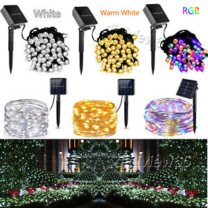 LED Solar String Lights Waterproof Copper Wire Fairy Light For Garden Outdoor UK